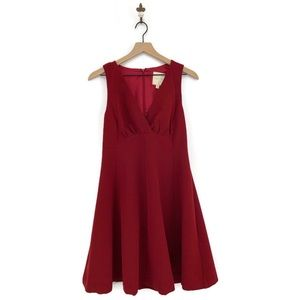 MocCloth Red Sleeveless V-Neck A-Line Dress Medium